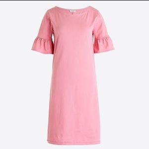 Jcrew pink ruffle sleeves dress